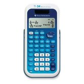 "Scientific Calculator, 4-Line, Dual Power, 3-1/5""x6-1/10""x3/4"", Blue"