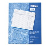 Jacket Style Job Folders, Straight Cut, Indexed, Top Tab, Ltr, MLA, 20/pk