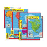 "Continents Learning Charts, 17""x22"", Multicolor"