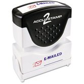 Accustamp2 Shutter Stamp with Microban, Red/Blue, EMAILED, 1 5/8 x 1/2