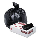 Industrial Strength Low-Density Commercial Can Liners,33 gal,1.7mil,BLK, 150/ctn