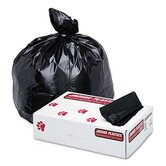 Super Extra-Heavy Can Liners, 45 Gallon, 1.7mil, 40 x 46, Black, 100 per Pack