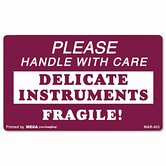"""Handle with Care Delicate Instruments"" Self-Adhesive Label, 3 x 5, 500 per Roll"