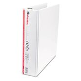 Round Ring Economy Vinyl View Binder, White