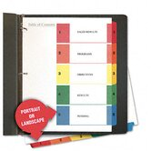 Table Of Contents Dividers, 6 Sets/Pack