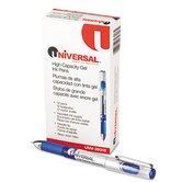 High Capacity Roller Ball Stick Gel Pen, 12/Pack