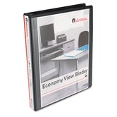 Round Ring Economy Vinyl View Binder, 1in Capacity, 12/Ctn, Black