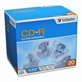 Cd-R Discs, 700Mb/80Min, 52X, 20/Pack