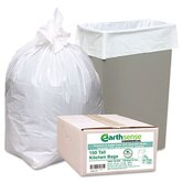 Earthsense Commercial Recycled Tall Kitchen Bags, 13-16 Gallon, 0.8 Mil, 24 X 31, 150 Bags/Box
