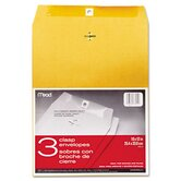 Clasp Envelope, 10 x 13, 24lb, Kraft, 3/Pack