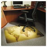World Map Medium Pile Carpet Chair Mat