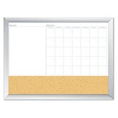 Magnetic Dry Erase 3-N-1 Board, Cork Area, 36 X 24