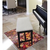 Colortex Polycarbonate Autumn Leaves Rectangular General Purpose Mat for Hard Floors & Low Pile Carpets