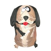 The Original Bongo Bag Dog Pop Up Hamper in Brown