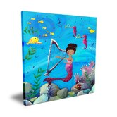 Wit &amp; Whimsy African American Mermaid Canvas Art