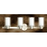 Manhattan Four Light Vanity Light in Brushed Nickel