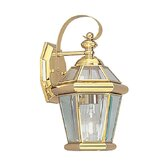 Georgetown Outdoor Wall Lantern in Polished Brass