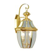 Monterey Outdoor Wall Lantern in Polished Brass