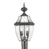 Monterey Outdoor Post Lantern in Black