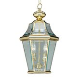 Georgetown  Outdoor Hanging Lantern in Polished Brass