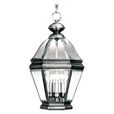 Bradford  Outdoor Hanging Lantern in Vintage Pewter