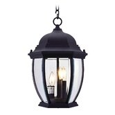 Kingston  Outdoor Hanging Lantern in Black
