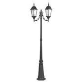 Hamilton Outdoor Two Head Post Lantern in Black