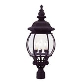Frontenac Four Light Outdoor Post Lantern in Black