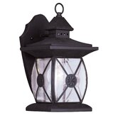 Providence One Light Outdoor Wall Lantern in Bronze
