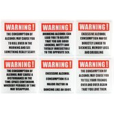 Alcohol Warning Coasters Set