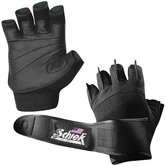 Platinum Gel Lifting Gloves with Wrist Wrap in Black