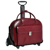 W Series Glen Ellyn Leather 2-in-1 Removable-Wheeled Women's Briefcase