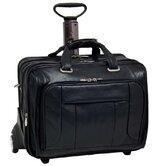 "S Series West Town Leather Checkpoint-Friendly 17"" Wheeled Laptop Case"