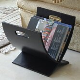 Contemporary Style Wooden Magazine Rack