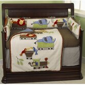 Animal Tracks 4 Piece Crib Bedding Set