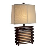 Trendsitions Burns Valley Table Lamp in Espresso Wood
