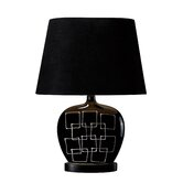 Capelle One Light Table Lamp in Gloss Black