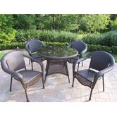 Resin Wicker 5 Piece Dining Set