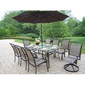 Cascade 9 Piece Dining Set with Umbrella
