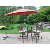 Hummingbird Mississippi 5 Piece Swivel Bar Set with Cushions and Umbrella