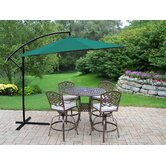 Elite Mississippi 5 Piece Swivel Bar Set with Cushions and Umbrella
