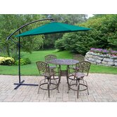 Elite Mississippi 5 Piece Swivel Bar Set with Umbrella
