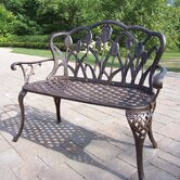 Tulip Aluminum Garden Bench