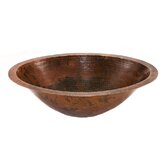 Master Bath Oval Undermount Hammered Copper Bathroom Sink in Oil Rubbed Bronze