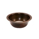 "14"" Round Hammered Copper Bar Sink in Oil Rubbed Bronze"