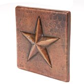 4&quot; x 4&quot; Copper Star Tile in Oil Rubbed Bronze