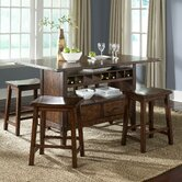 Cabin Fever Formal 5 Piece Counter Height Dining Set