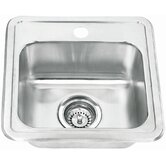 Stainless Steel Topmount Single Bowl Bar Sink
