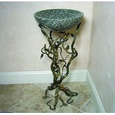 Firestine 32&quot; x 15&quot; Hand Made Pedestal Sink Set