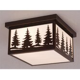 "Yellowstone 12"" Outdoor Flush Mount in Burnished Bronze"